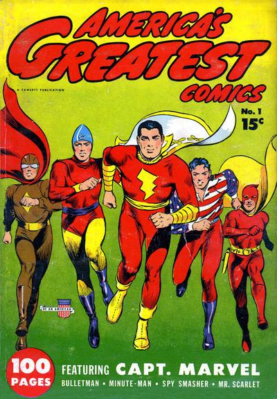 Cover for America's Greatest Comics (Fawcett, 1941 series) #1
