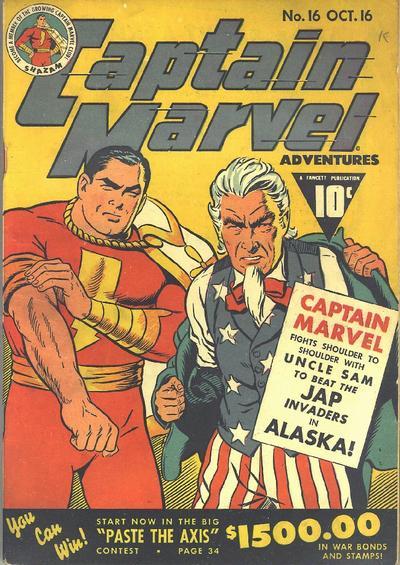 Cover for Captain Marvel Adventures (Fawcett, 1941 series) #16
