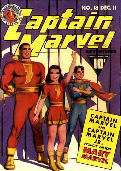 Cover for Captain Marvel Adventures (Fawcett, 1941 series) #18