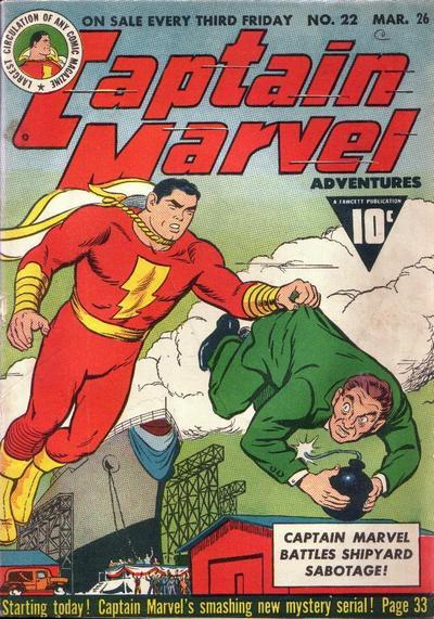 Cover for Captain Marvel Adventures (Fawcett, 1941 series) #22