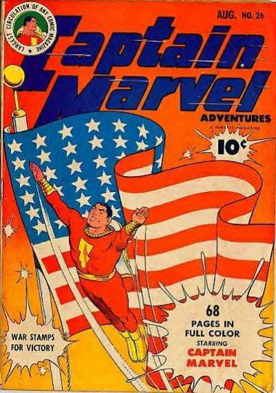 Cover for Captain Marvel Adventures (Fawcett, 1941 series) #26