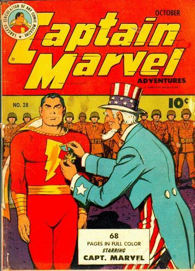 Cover for Captain Marvel Adventures (Fawcett, 1941 series) #28