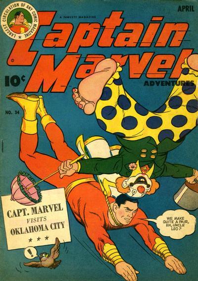 Cover for Captain Marvel Adventures (Fawcett, 1941 series) #34