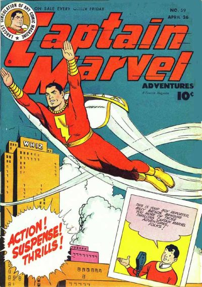 Cover for Captain Marvel Adventures (Fawcett, 1941 series) #59
