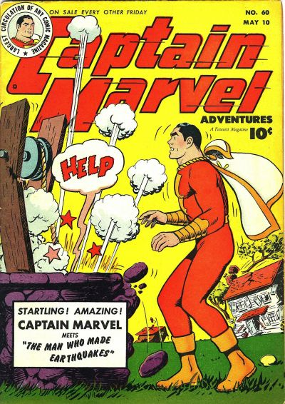 Cover for Captain Marvel Adventures (Fawcett, 1941 series) #60