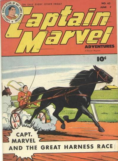 Cover for Captain Marvel Adventures (Fawcett, 1941 series) #62