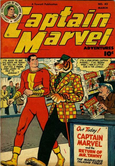 Cover for Captain Marvel Adventures (Fawcett, 1941 series) #82