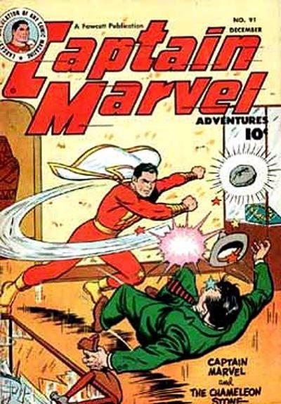 Cover for Captain Marvel Adventures (Fawcett, 1941 series) #91