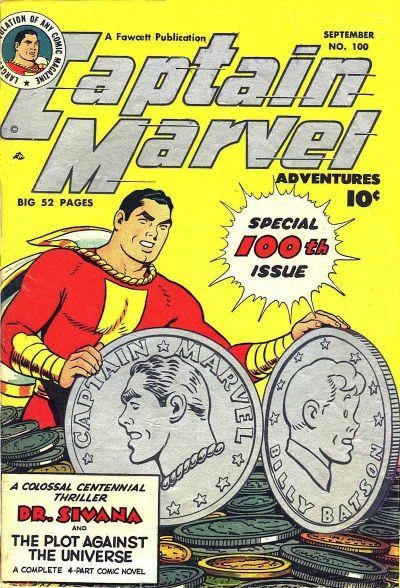 Cover for Captain Marvel Adventures (Fawcett, 1941 series) #100