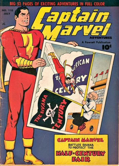 Cover for Captain Marvel Adventures (Fawcett, 1941 series) #110