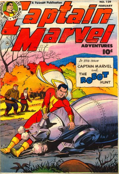 Cover for Captain Marvel Adventures (Fawcett, 1941 series) #129