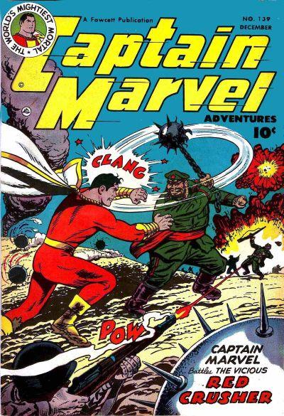 Cover for Captain Marvel Adventures (Fawcett, 1941 series) #139