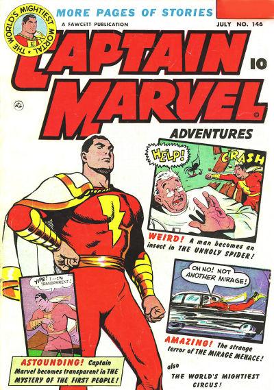 Cover for Captain Marvel Adventures (Fawcett, 1941 series) #146