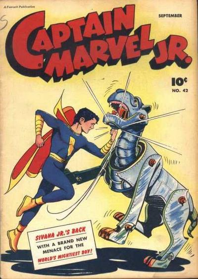Cover for Captain Marvel Jr. (Fawcett, 1942 series) #42