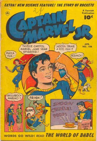 Cover for Captain Marvel Jr. (Fawcett, 1942 series) #108