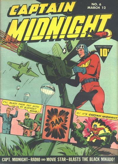 Cover for Captain Midnight (Fawcett, 1942 series) #6