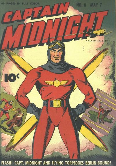 Cover for Captain Midnight (Fawcett, 1942 series) #8