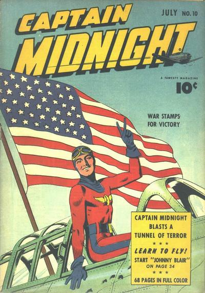 Cover for Captain Midnight (Fawcett, 1942 series) #10
