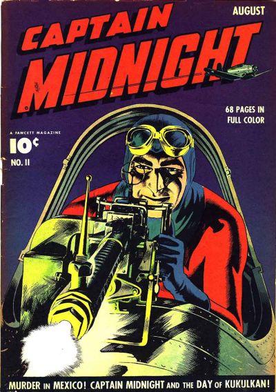 Cover for Captain Midnight (Fawcett, 1942 series) #11