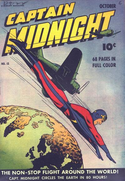 Cover for Captain Midnight (Fawcett, 1942 series) #13