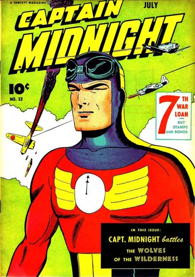 Cover for Captain Midnight (Fawcett, 1942 series) #32