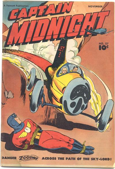 Cover for Captain Midnight (Fawcett, 1942 series) #57
