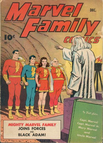 Cover for The Marvel Family (Fawcett, 1945 series) #1