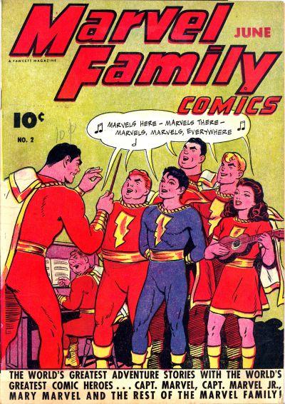 Cover for The Marvel Family (Fawcett, 1945 series) #2