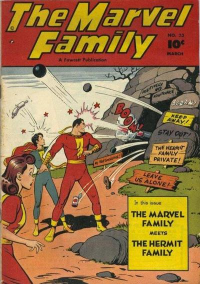 Cover for The Marvel Family (Fawcett, 1945 series) #33