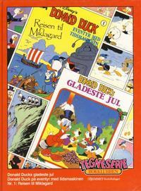 Cover for Tegneseriebokklubben (Hjemmet / Egmont, 1985 series) #33 - Donald Ducks gladeste jul; Donald Duck på eventyr med tidsmaskinen nr. 1: Reisen til Miklagard