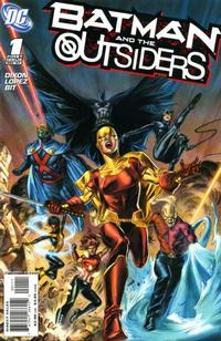 Cover Thumbnail for Batman and the Outsiders (DC, 2007 series) #1 [Doug Braithwaite Variant]