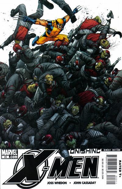 Cover for Astonishing X-Men (Marvel, 2004 series) #23 [Wolverine Cover]