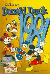 Cover Thumbnail for Donald Duck (Oberon, 1972 series) #1/1981