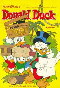 Cover Thumbnail for Donald Duck (Oberon, 1972 series) #27/1985