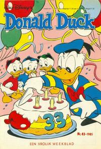 Cover Thumbnail for Donald Duck (Oberon, 1972 series) #43/1985