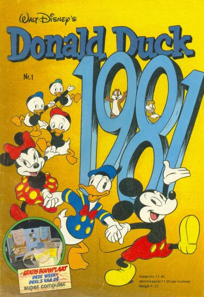 Cover for Donald Duck (Oberon, 1972 series) #1/1981