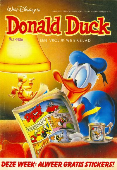 Cover for Donald Duck (Oberon, 1972 series) #1/1986