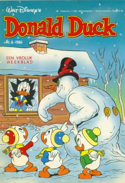 Cover for Donald Duck (Oberon, 1972 series) #6/1986