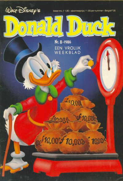 Cover for Donald Duck (Oberon, 1972 series) #8/1986