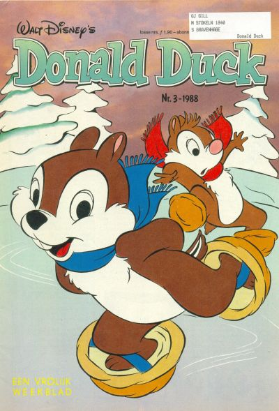 Cover for Donald Duck (Oberon, 1972 series) #3/1988