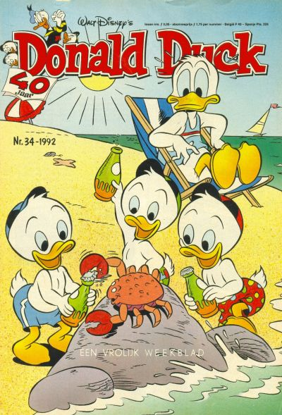 Cover for Donald Duck (Geïllustreerde Pers, 1990 series) #34/1992