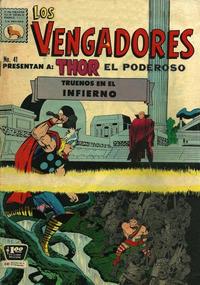 Cover Thumbnail for Los Vengadores (Editora de Periódicos La Prensa S.C.L., 1965 series) #41
