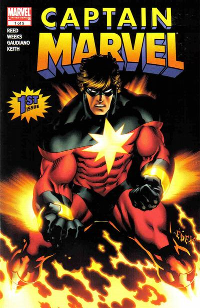 Cover for Captain Marvel (Marvel, 2008 series) #1 [Second Printing]