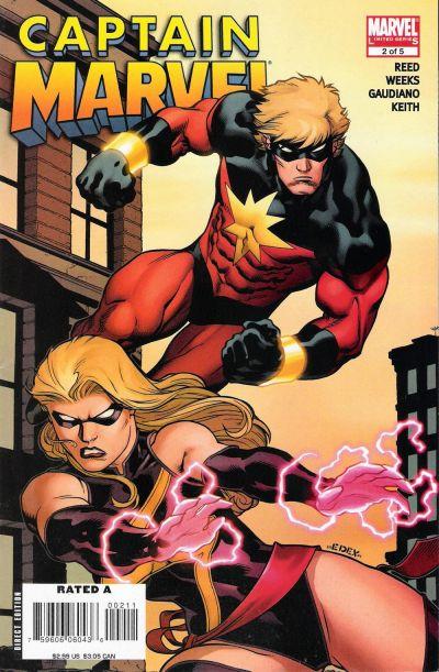 Cover for Captain Marvel (Marvel, 2008 series) #2