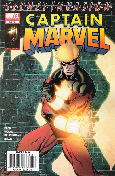 Cover for Captain Marvel (Marvel, 2008 series) #5