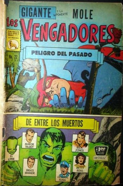 Cover for Los Vengadores (Editora de Periódicos La Prensa S.C.L., 1965 series) #22