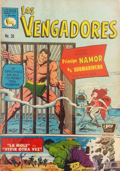 Cover for Los Vengadores (Editora de Periódicos La Prensa S.C.L., 1965 series) #26