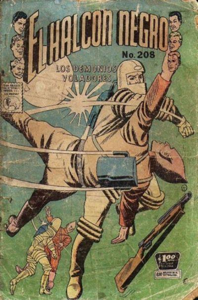 Cover for El Halcon Negro (Editora de Periódicos La Prensa S.C.L., 1951 series) #208