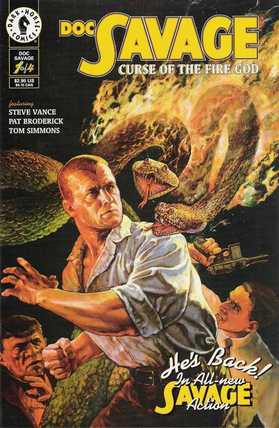 Cover for Doc Savage: Curse of the Fire God (Dark Horse, 1995 series) #1