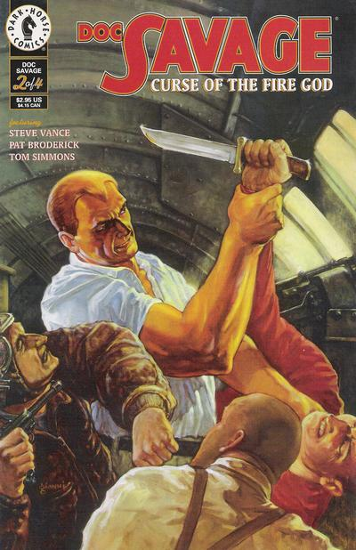 Cover for Doc Savage: Curse of the Fire God (Dark Horse, 1995 series) #2
